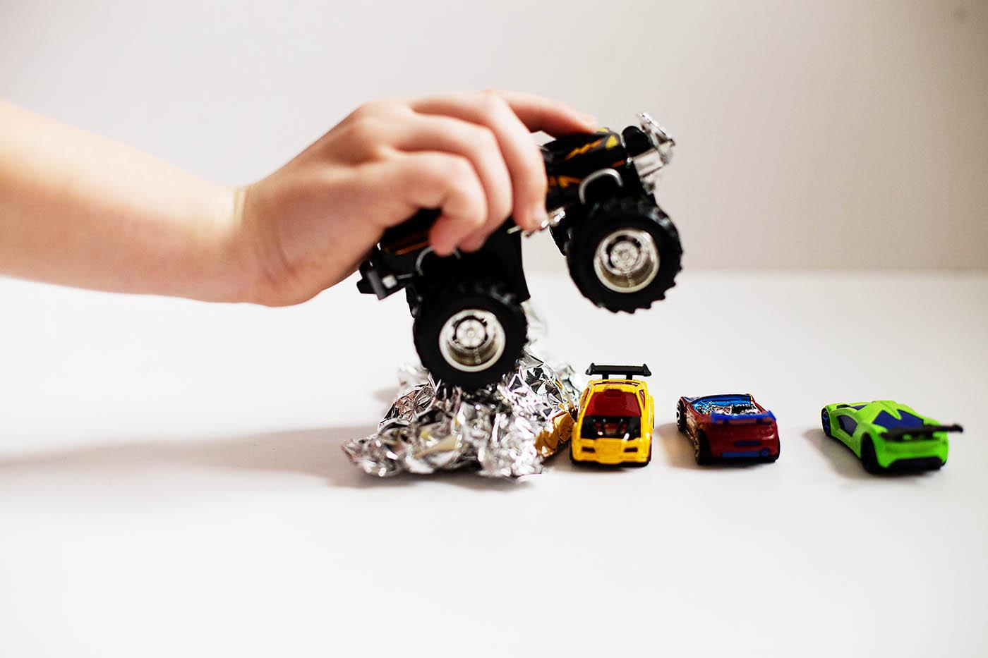 Monster truck smash activity