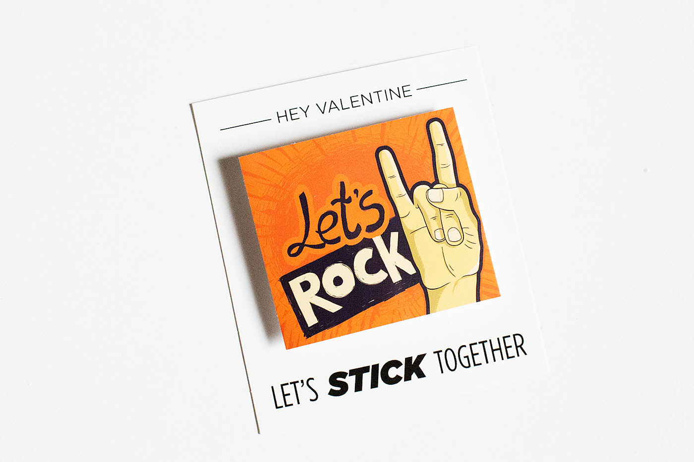 Let's stick together Valentine's card to add stickers to
