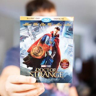 Doctor Strange out on Bluray and printable optical illusions