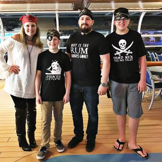 Pirate Night Aboard the Disney Wonder + DIY Disney Shirts