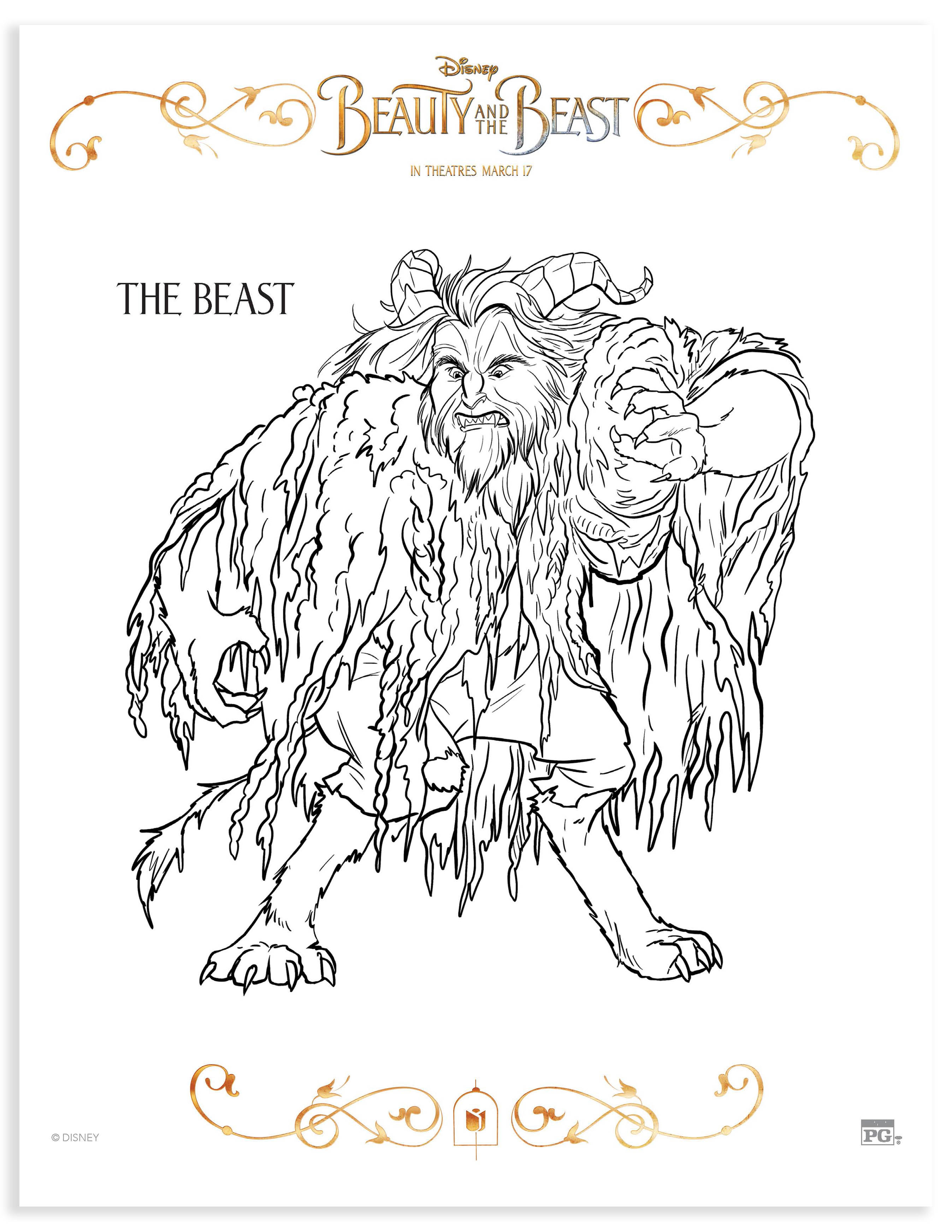Beauty and the Beast Mom Review Printable Coloring Pages