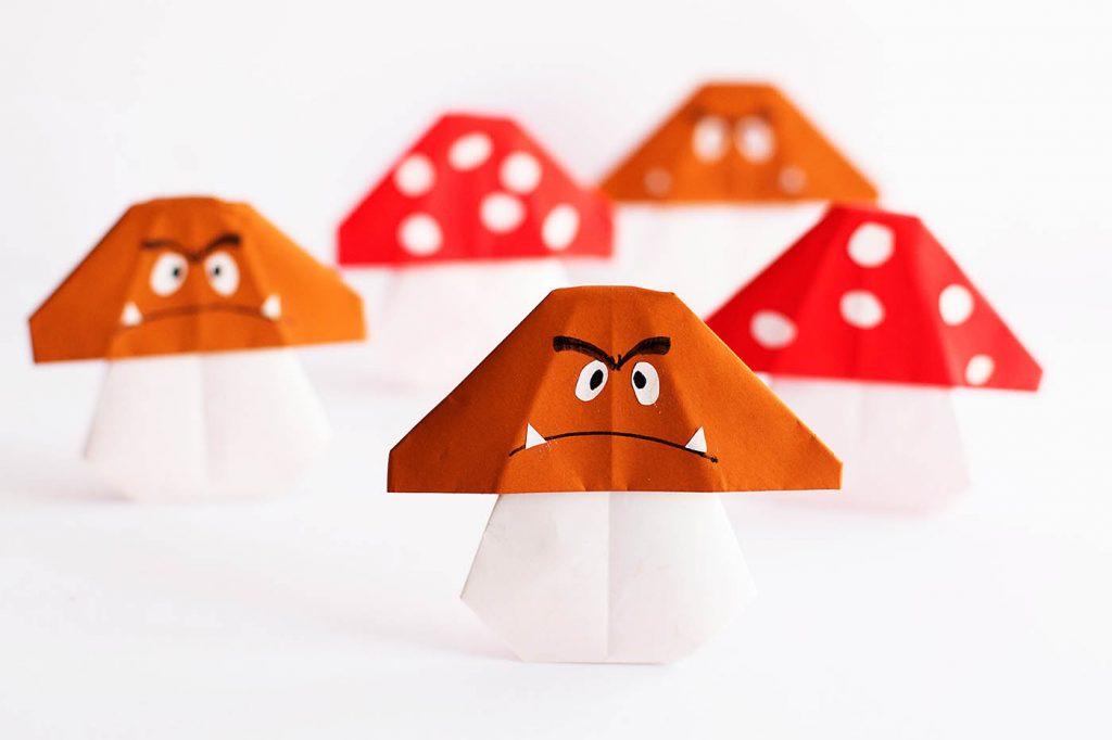 Easy Mario Mushroom Origami