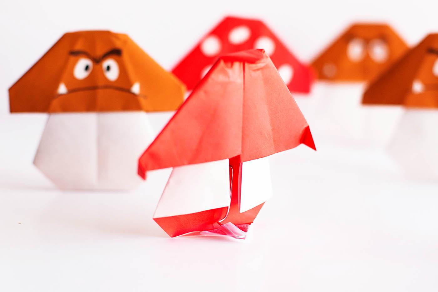 easy mario mushroom origami � all for the boys