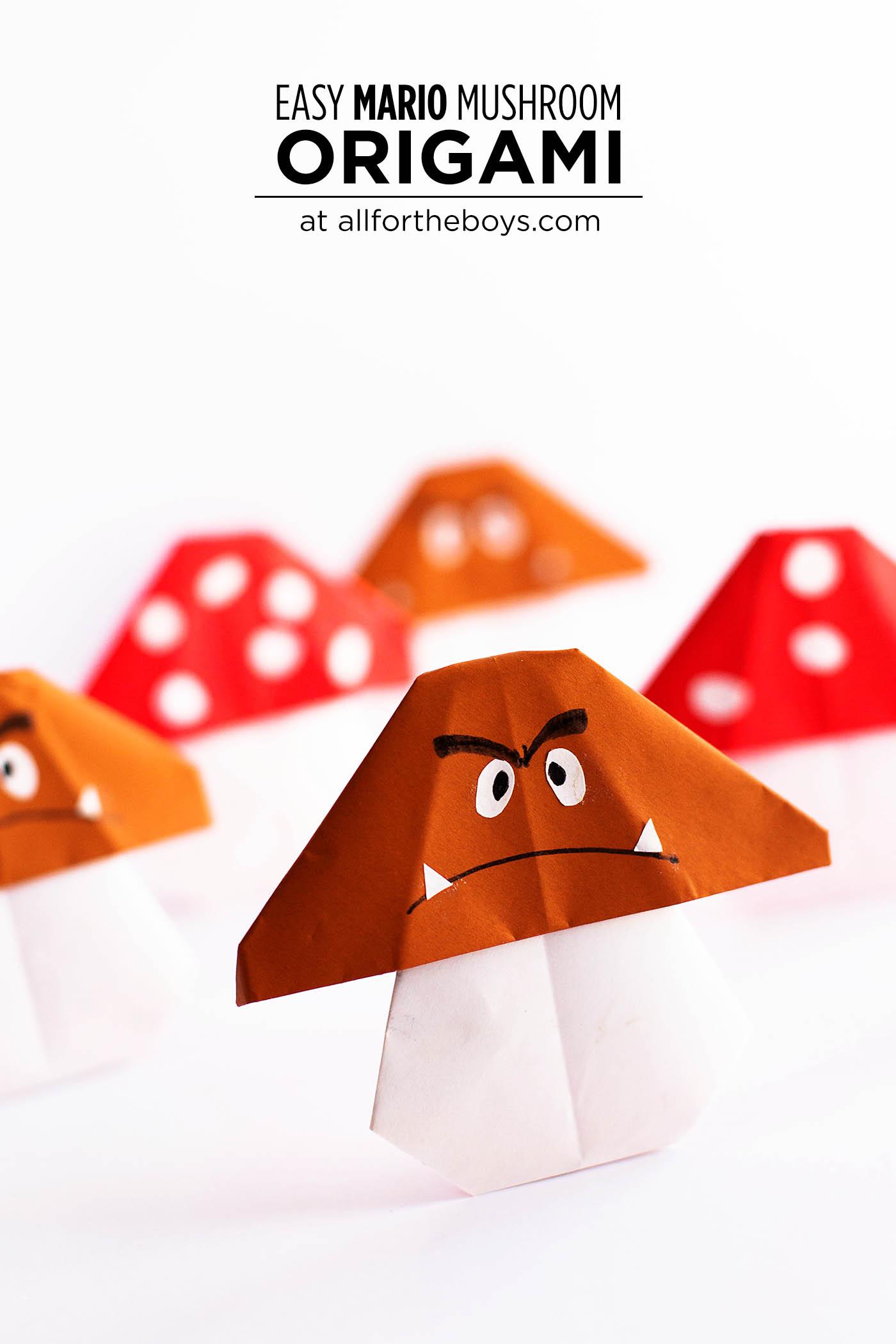 Easy Mario Mushroom Origami — All for the Boys - photo#35