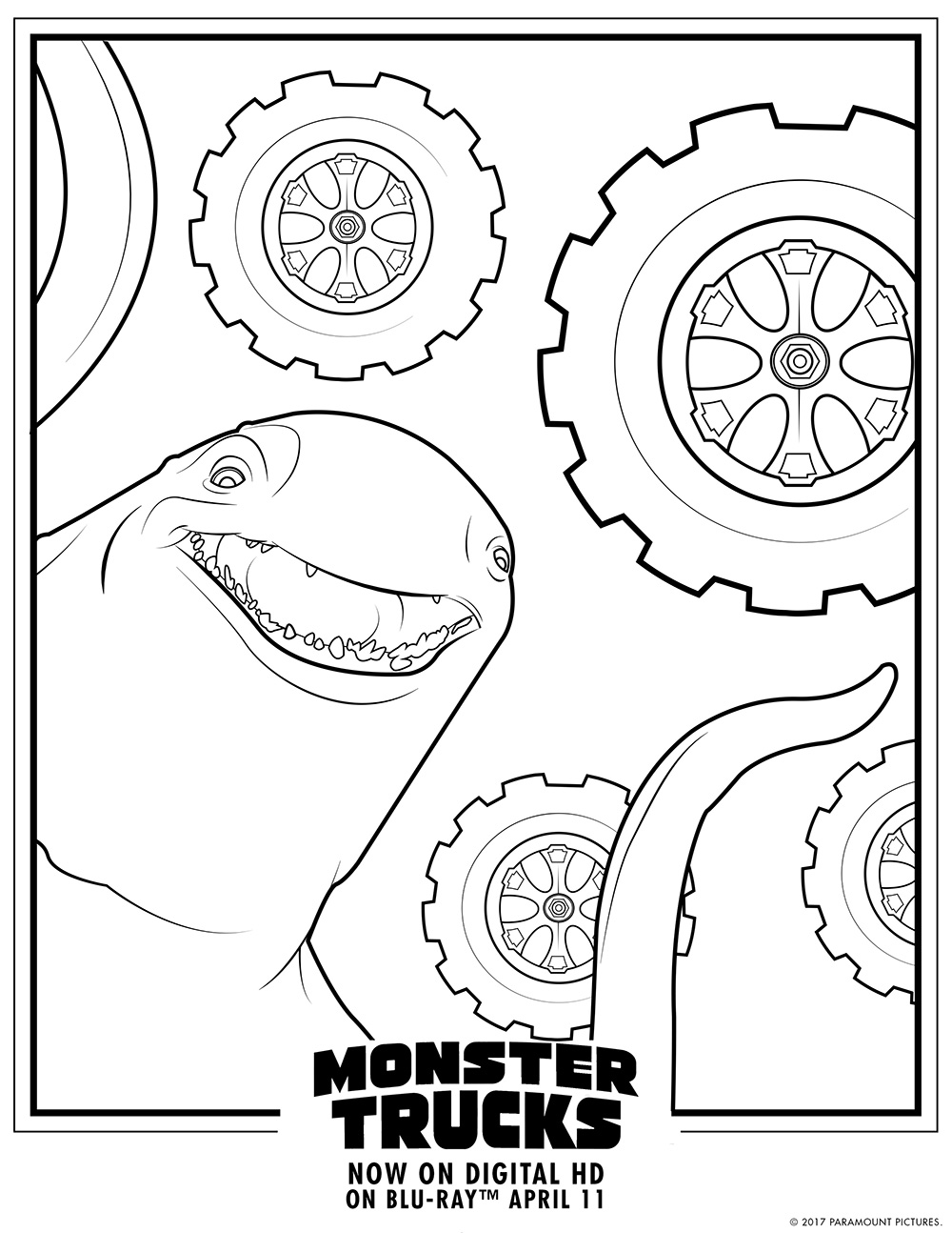 Monster Trucks Printable Coloring