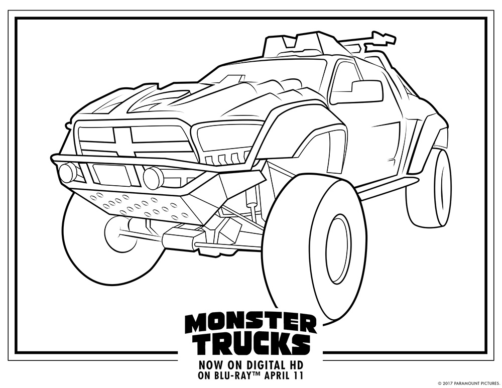 Monster Trucks printable coloring pages