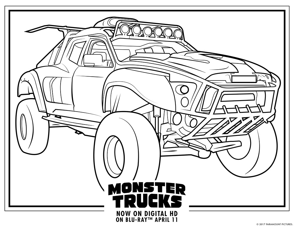 It is a picture of Unforgettable Monster Truck Printable Coloring Pages