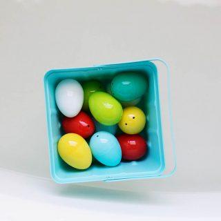 Plastic Easter egg bath play ideas!