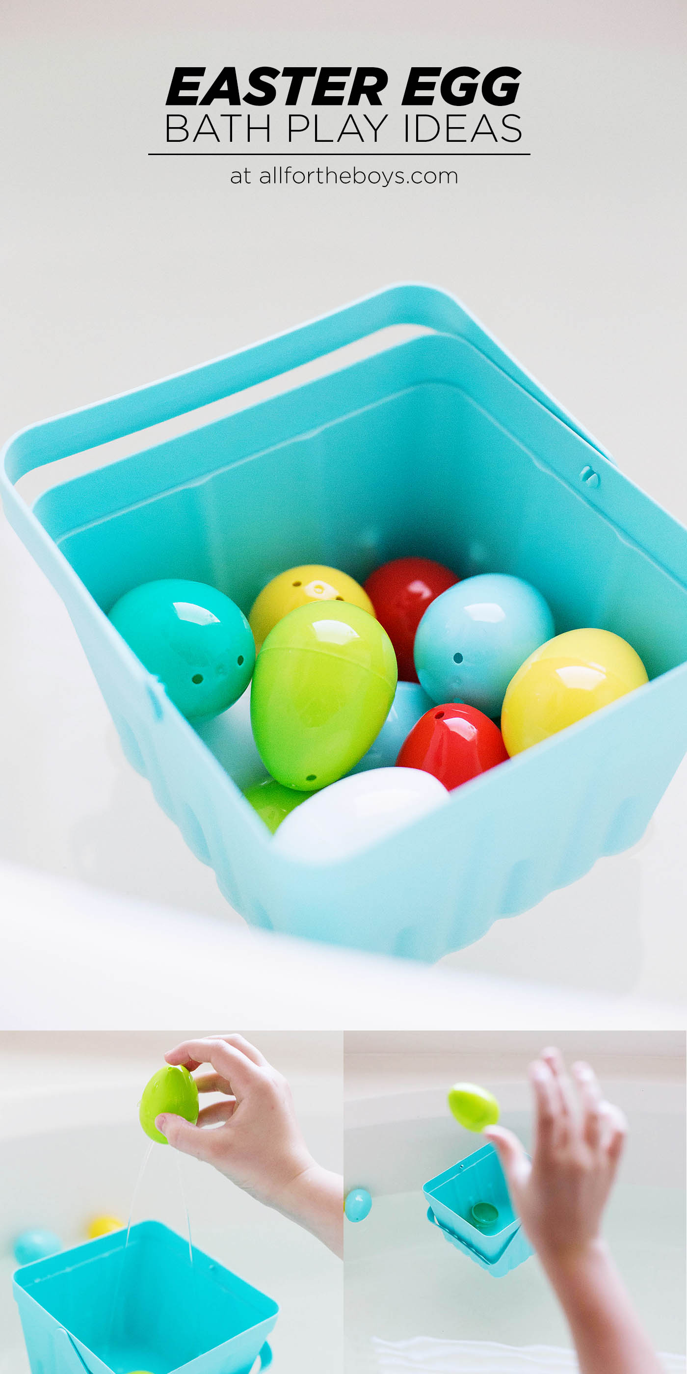 Plastic Easter egg bath play ideas!