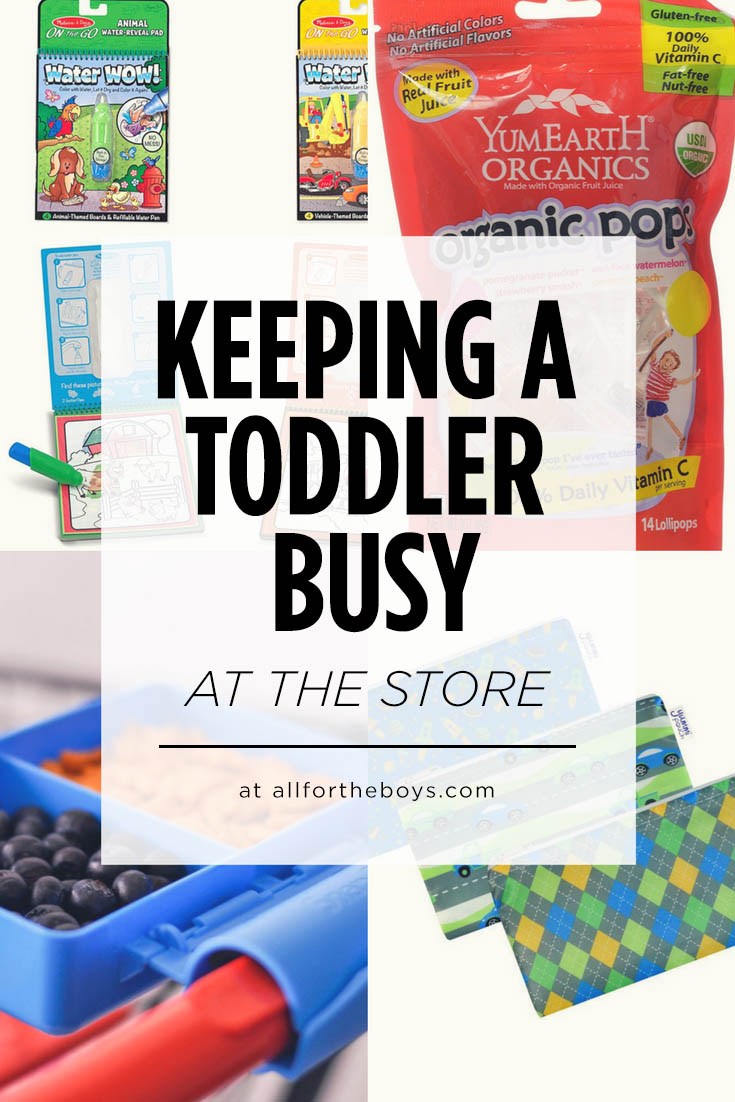 Great ideas for keeping toddlers busy at the store!