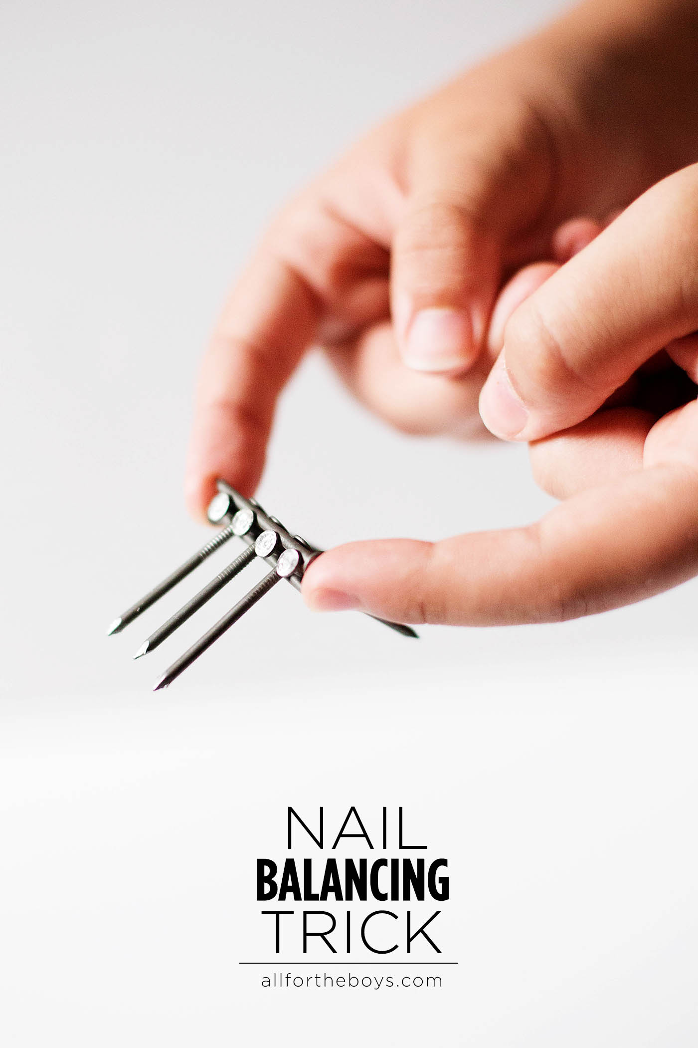 Nail balancing trick for kids