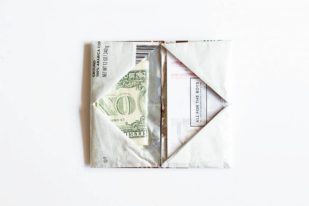 Origami Wallet from a Coffee Bag + Giving Back with Starbucks