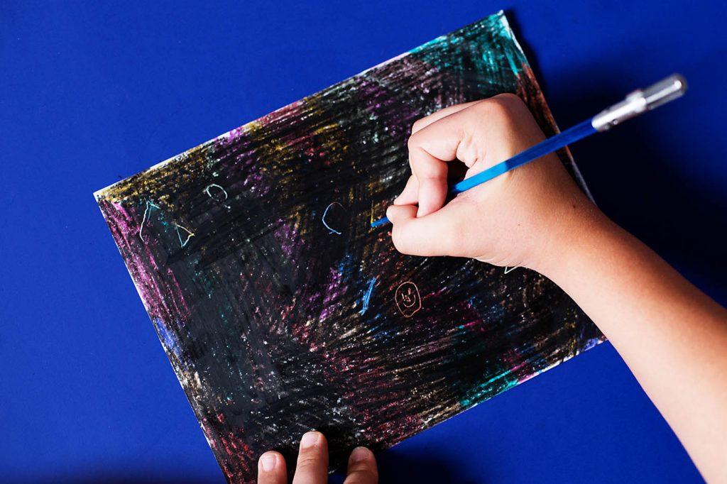 DIY Crayon Scratch-Off Art