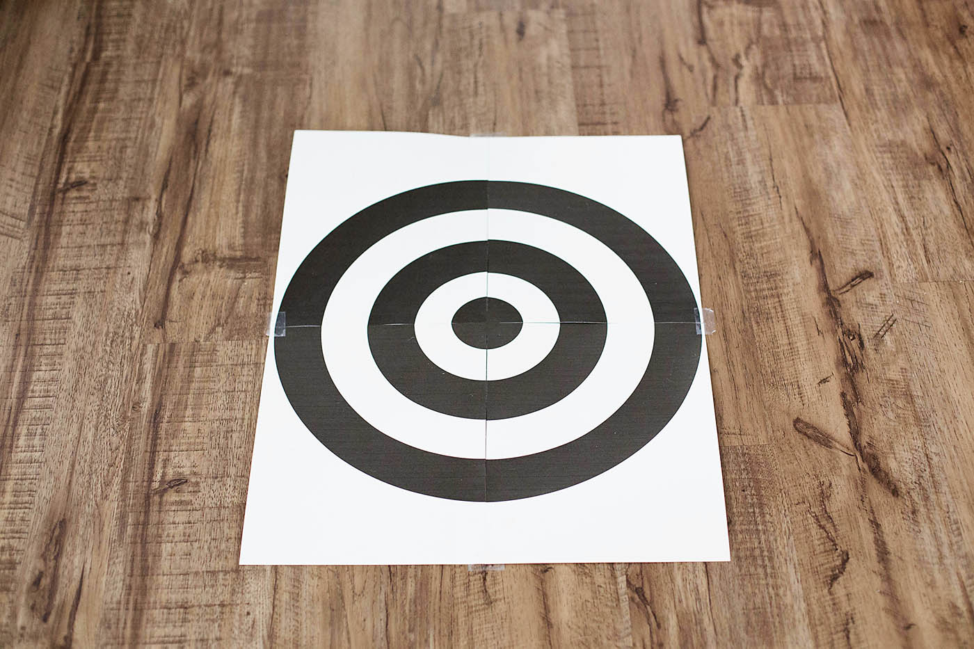 Easy toy target game - perfect summer fun idea!