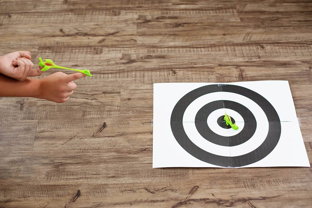 Easy Throwing Toy Target + Other Indoor Summer Activities