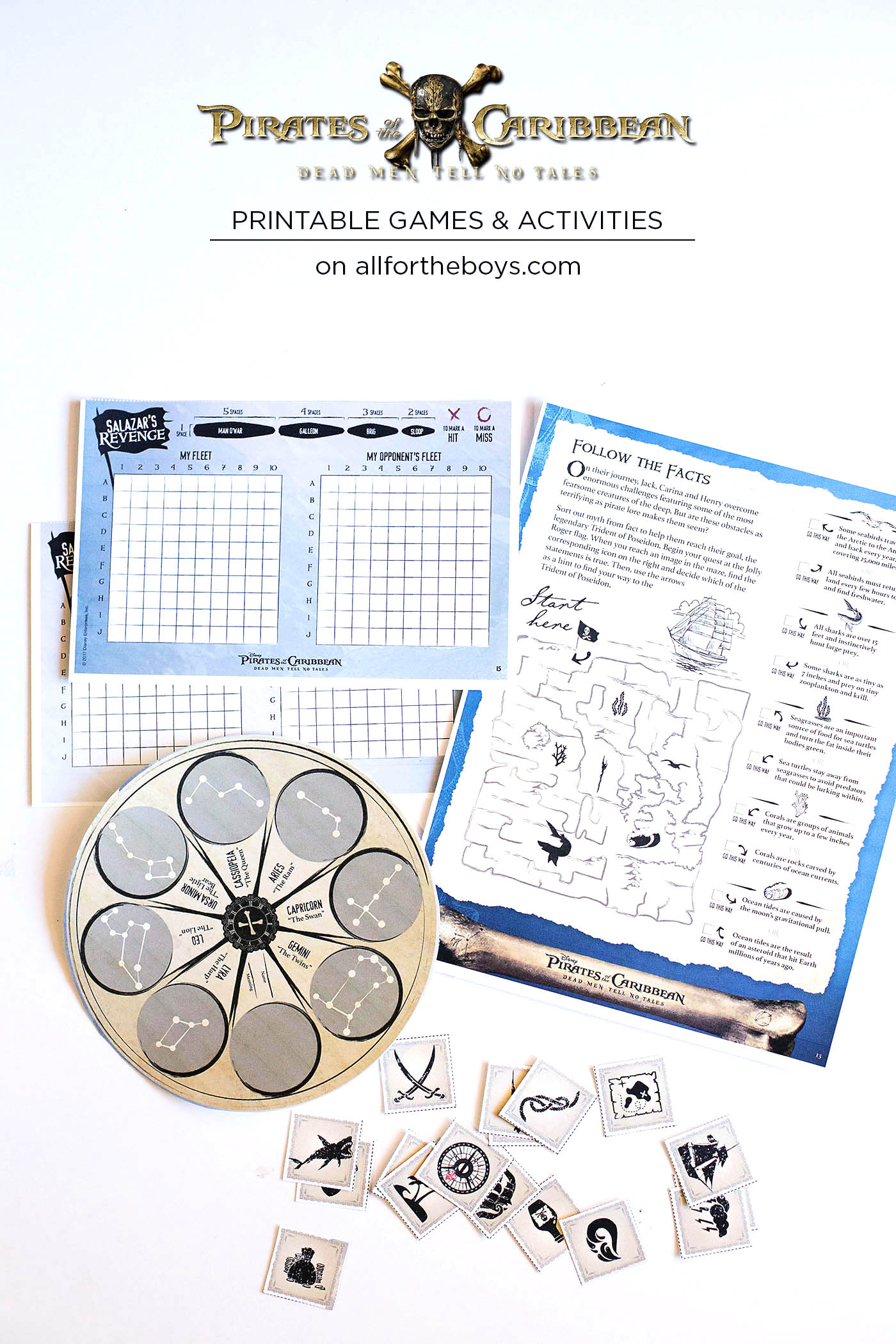 Pirates of the Caribbean: Dead Men Tell No Tales printable games and activities like star gazing indoors!