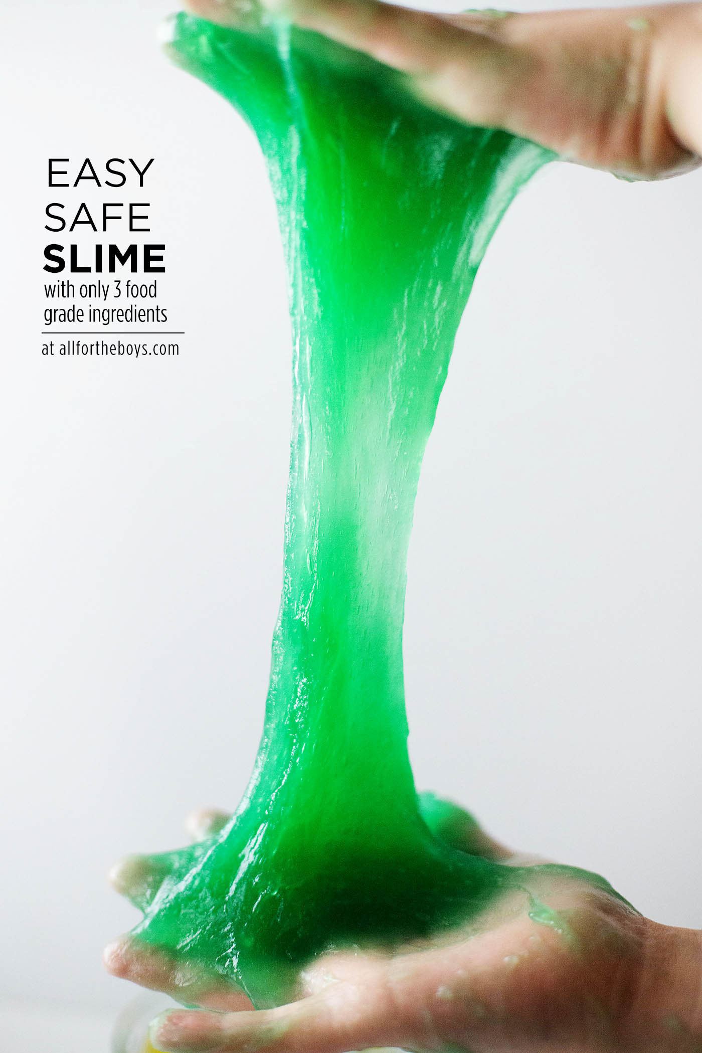 Easy safe slime made with food safe ingredients
