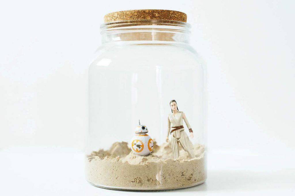DIY Star Wars and other themed terrariums