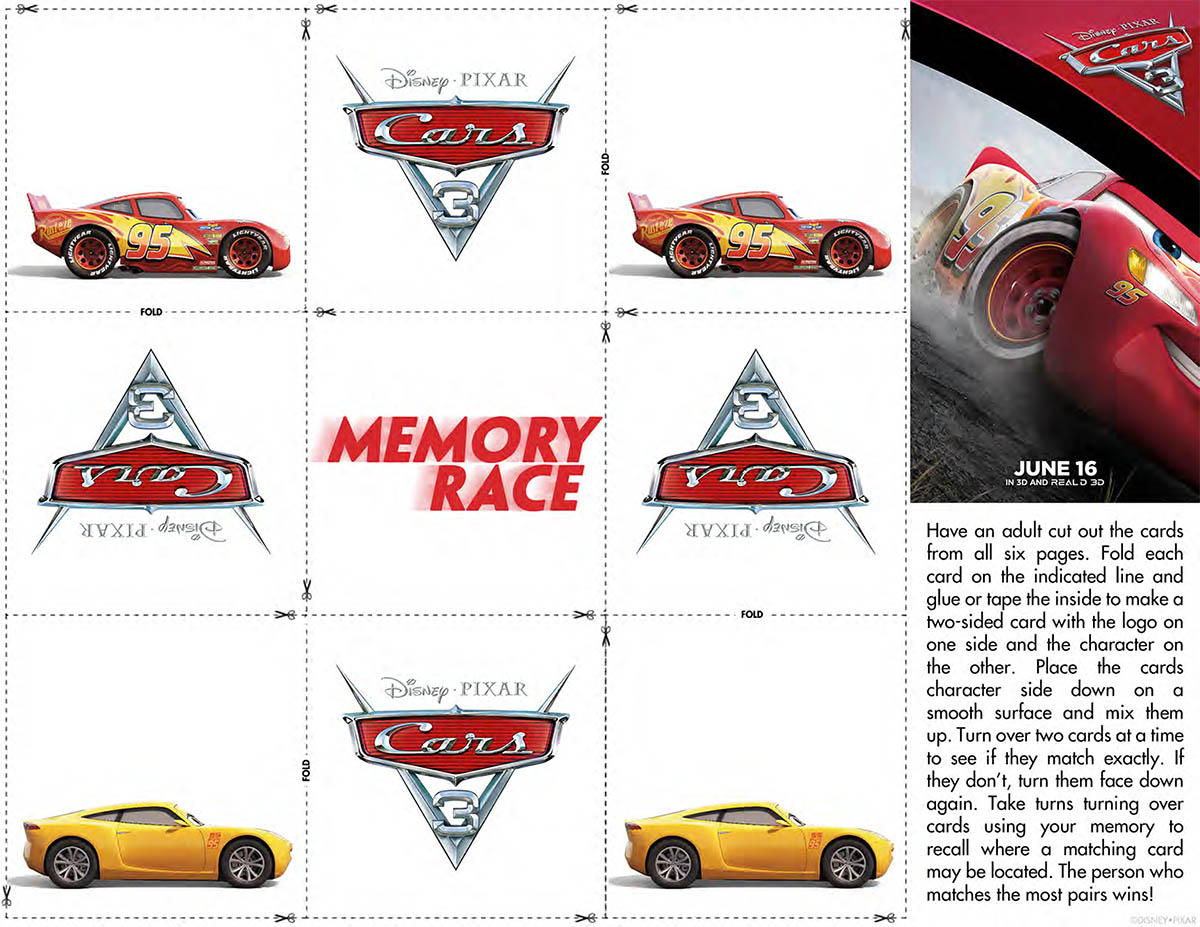 Cars 3 Matching Game