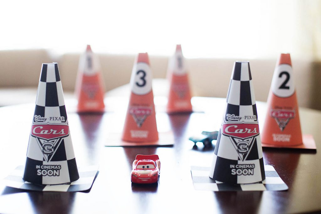 Cars 3 Printable Activities + DIY Race Course