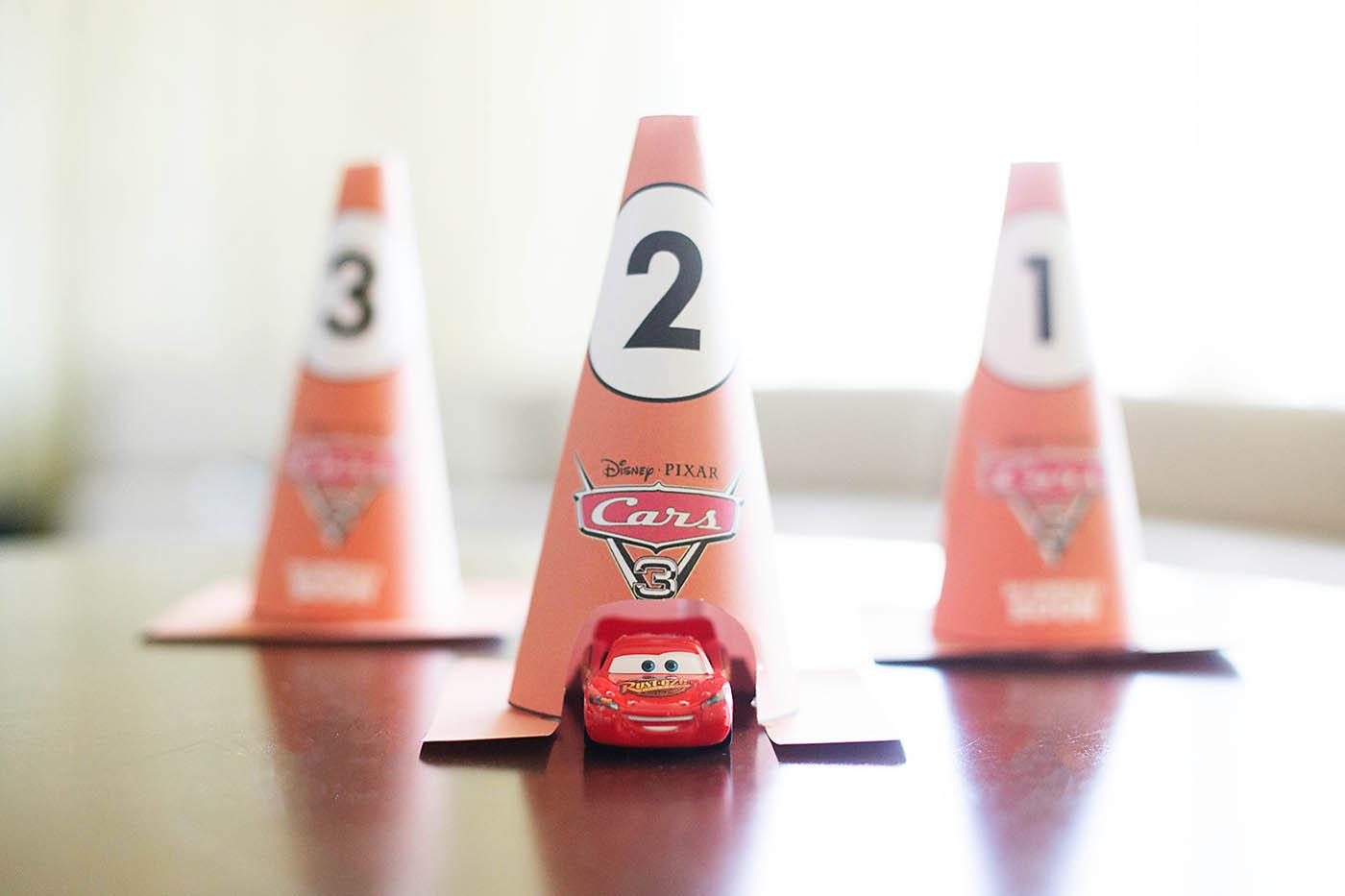 Cars 3 printable cones