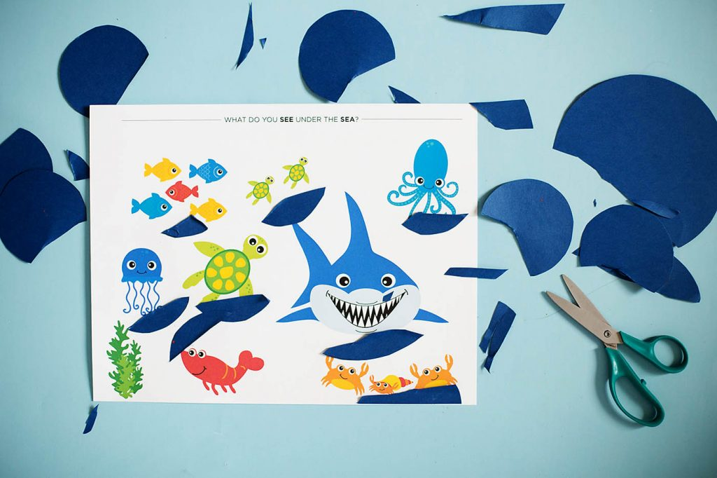 Milestone Monday – Ocean Themed Cutting Craft