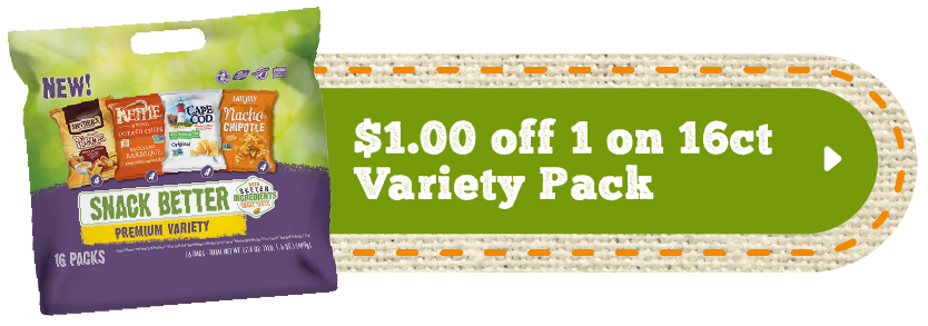 Snack variety pack coupons