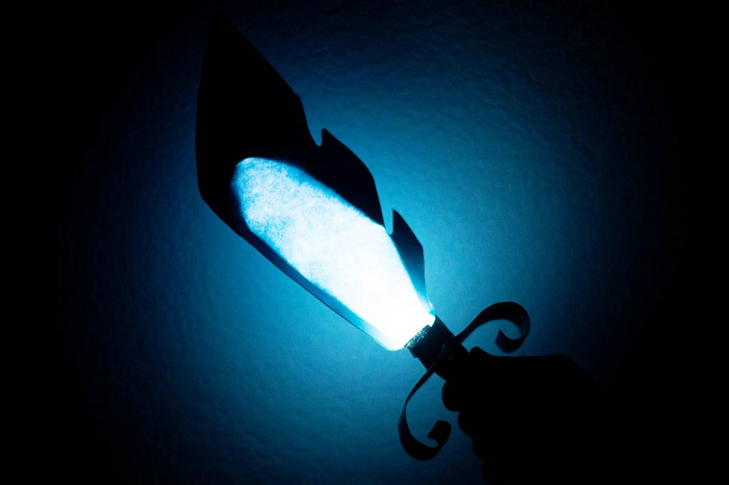DIY light up sword inspired by the Amazon original series Niko and the Sword of Light