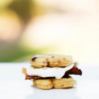 Bacon S'mores with Eggo Choco-Toast - SO good and no hard cookie/cracker to crumble all over the place