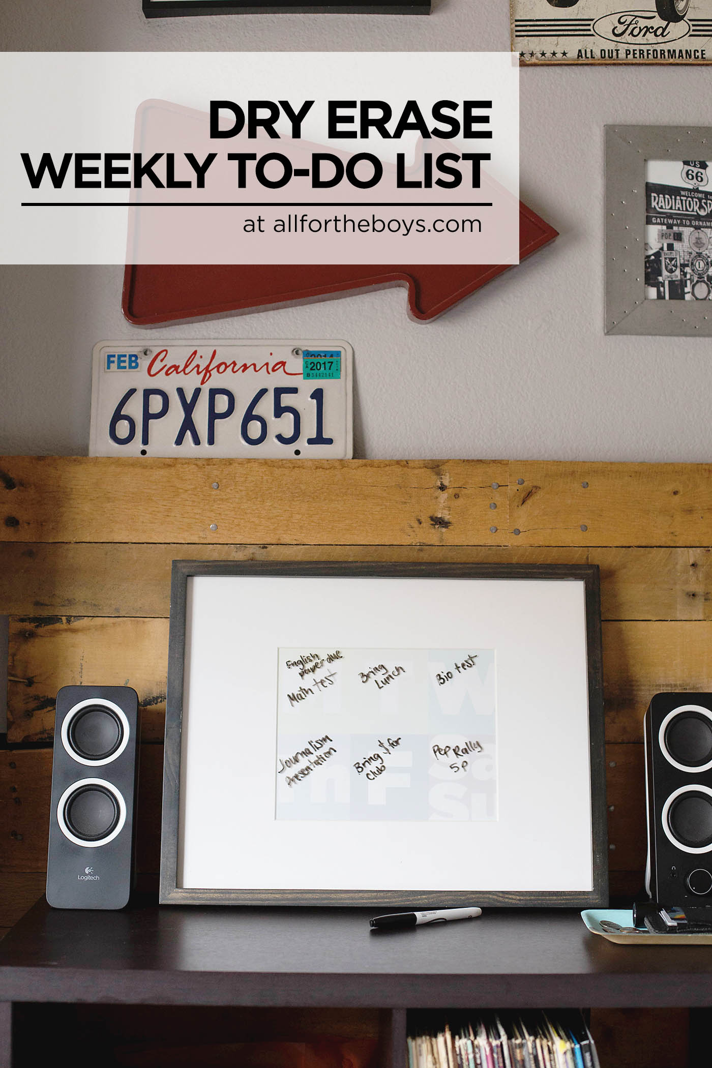 DIY printable dry erase to-do list