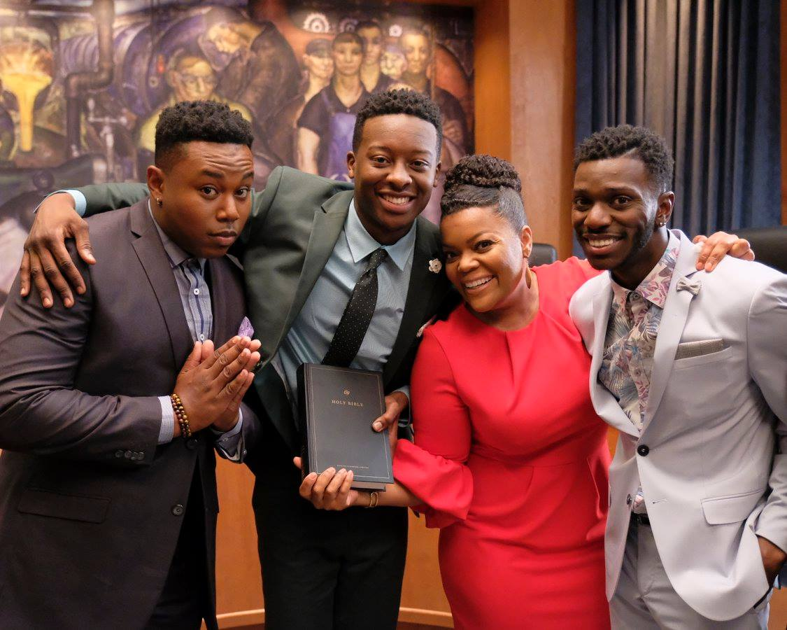 (ABC/Tony Rivetti) (L-R) MARCEL SPEARS, BRANDON MICHEAL HALL, YVETTE NICOLE BROWN, BERNARD DAVID JONES