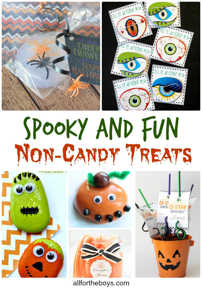 Spooky and fun non-candy Halloween treat ideas perfect for school parties, trick or treat bags, or allergy friendly ideas