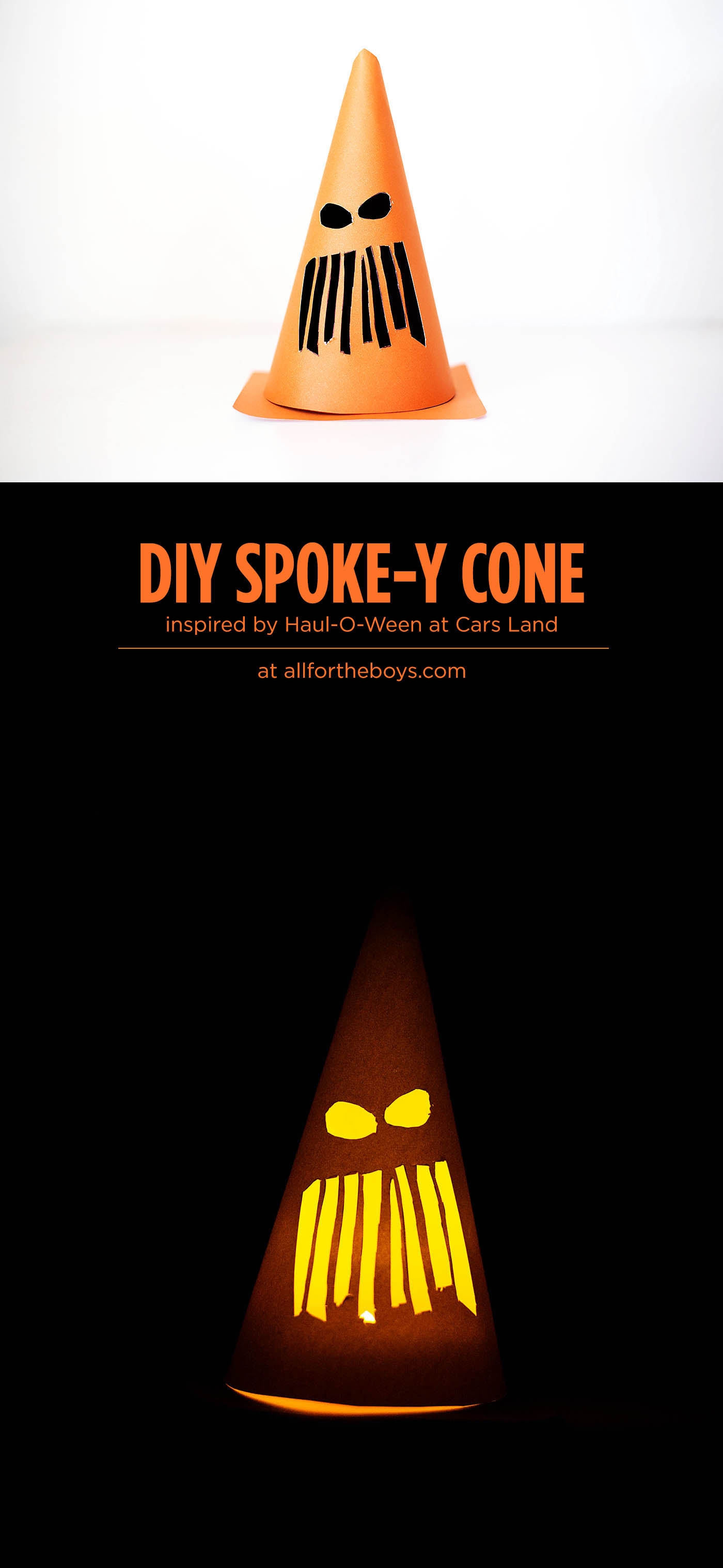 DIY Spoke-y Cone inspired by Haul-O-Ween at Cars Land in Disneyland!