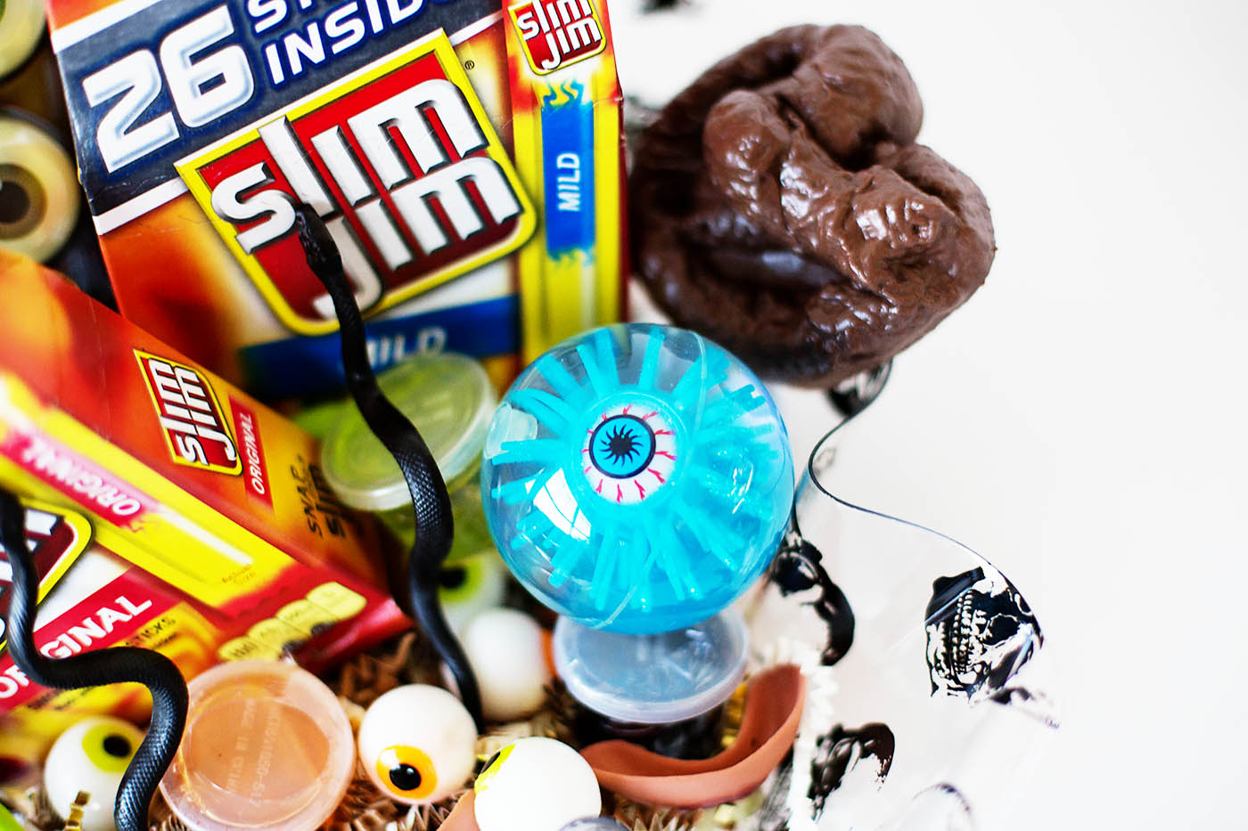 Halloween surprise bucket with Slim Jim