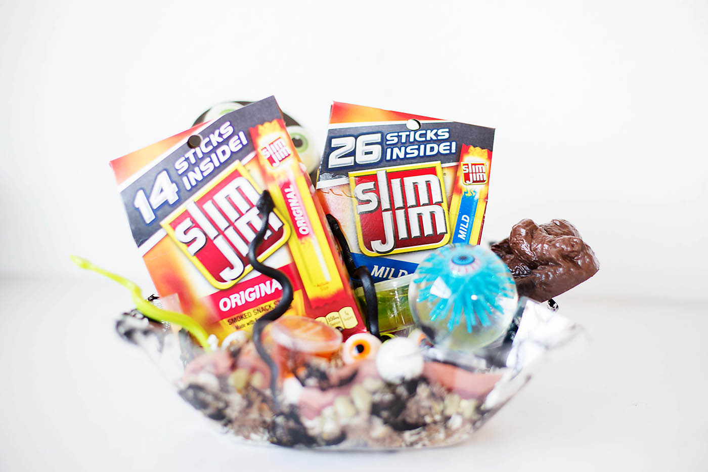 Halloween surprise bucket with Slim Jim