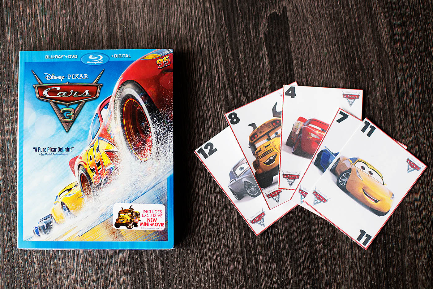 cars 3 on blu ray free printable card game cars3bluray all for the boys. Black Bedroom Furniture Sets. Home Design Ideas