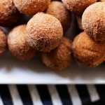 Easy baked eggnog donut holes! These can easily be make gluten free too (the ones pictured are gluten free)