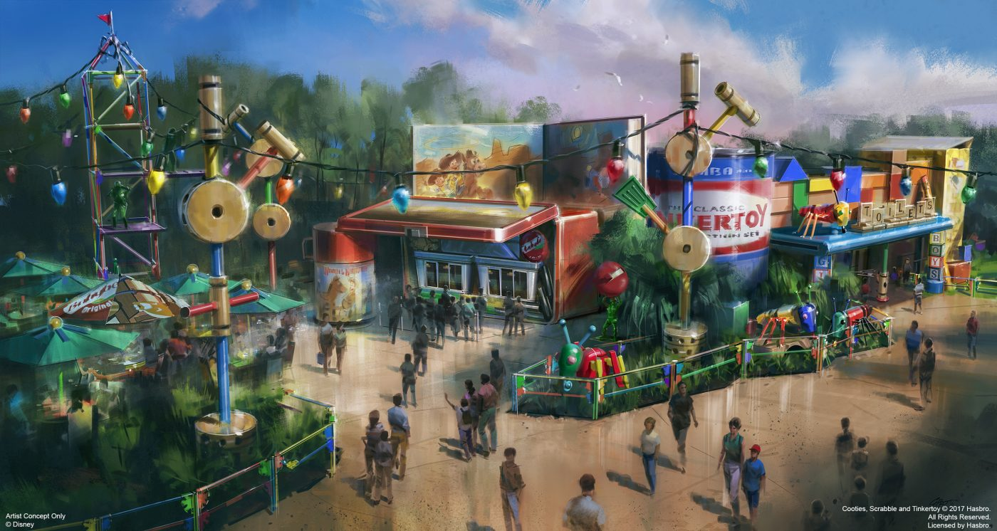 Woody's Lunch Box will be a new quick-service window serving tasty meals and old-fashioned soda floats within Toy Story Land at Disney's Hollywood Studios when it opens in summer 2018. Walt Disney World Resort will collaborate with Mini Babybel to bring this quick-service window to life. Toy Story Land will invite guests to step into the whimsical world of Pixar Animation Studios' blockbuster films where guests will feel like they've shrunk to the size of a toy as they play in Andy's backyard with their favorite Toy Story pals. (Disney/Handout)