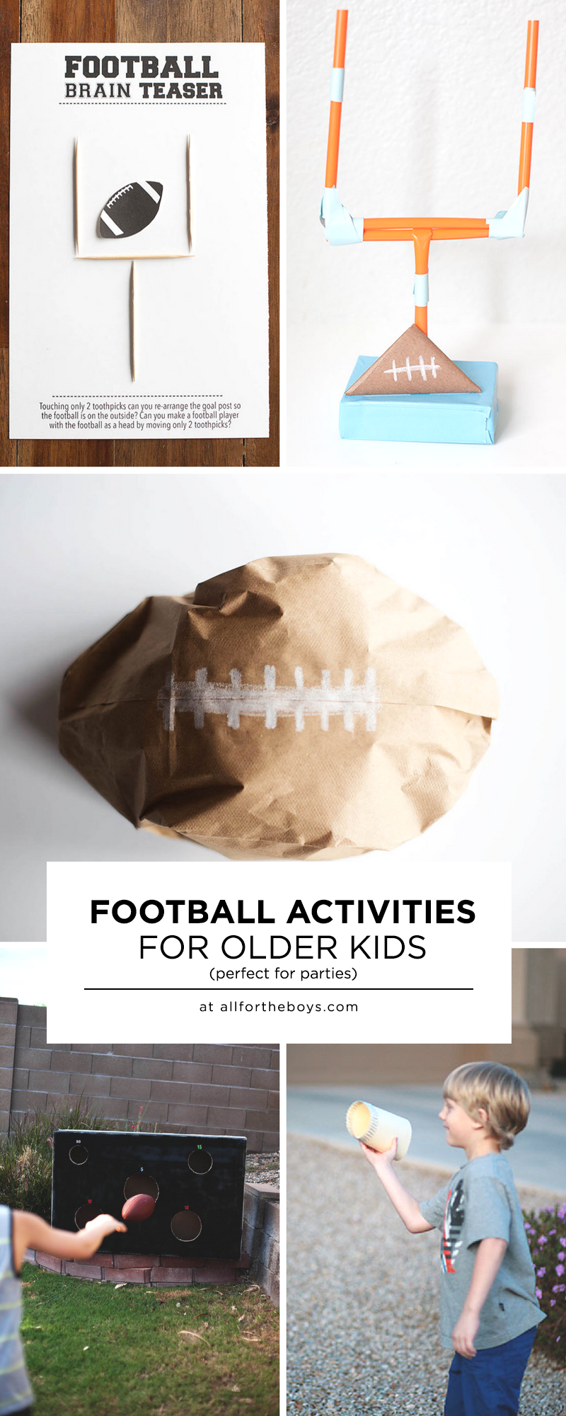 b46dc63be2 Football activities for older kids - perfect for a gameday football party!