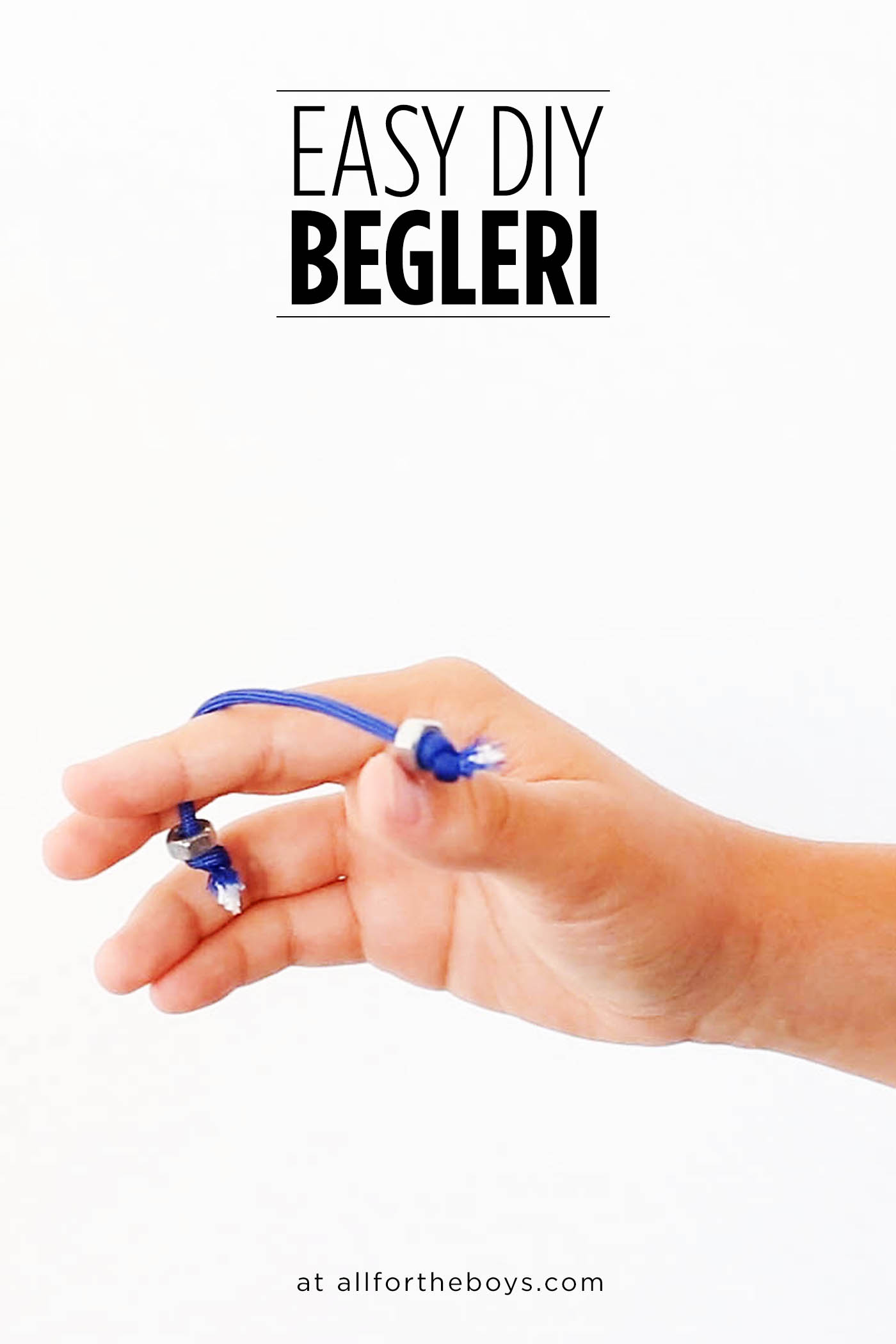 An easy DIY Begleri tutorial - a different kind of fidget toy!