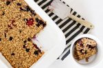 Easy Baked Berry Oatmeal (with Cottage Cheese)