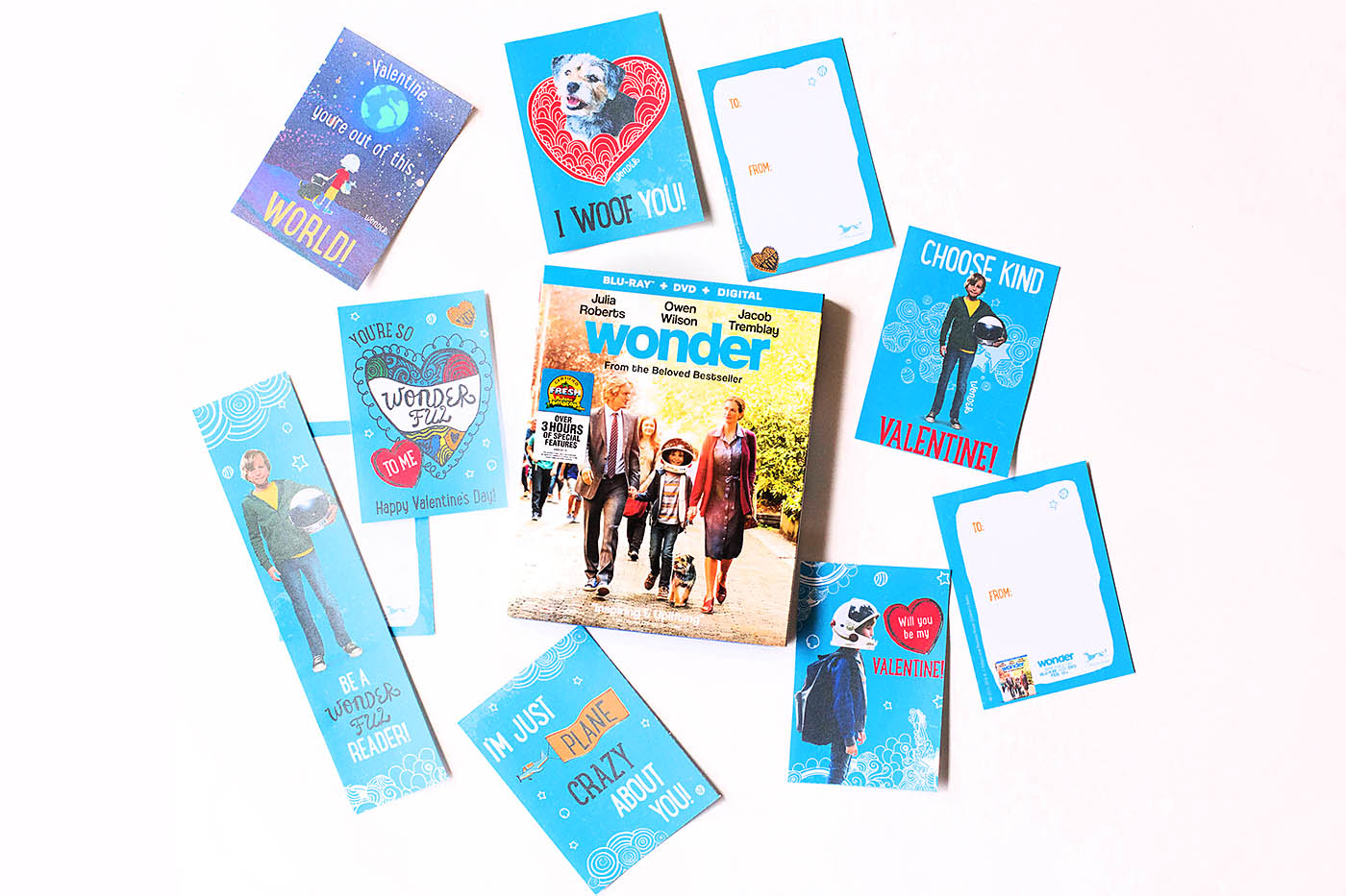 Wonder printable Valentines or activities - for teachers or at home!
