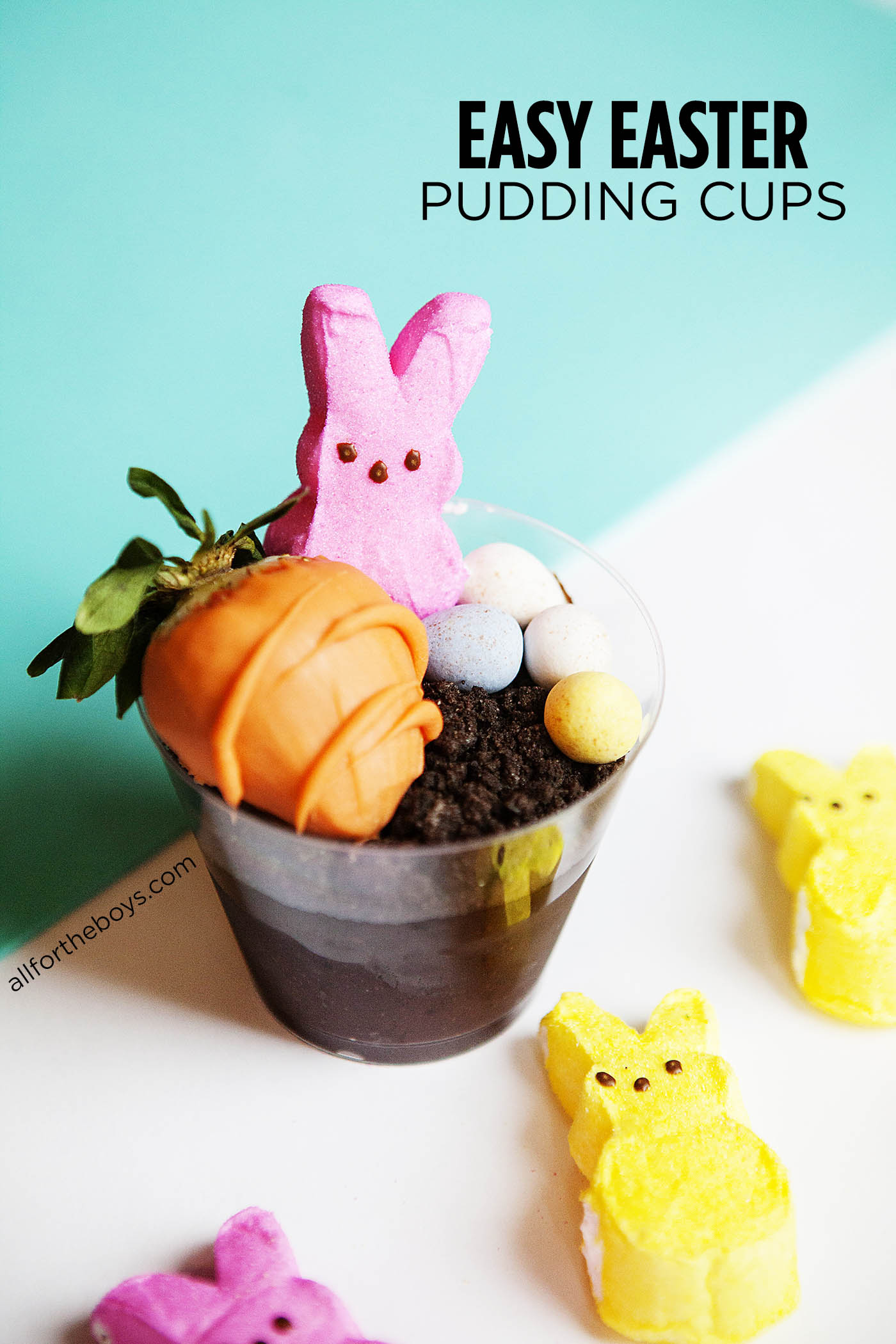Easy Easter pudding cups - how cute are these, and they are so simple to put together!