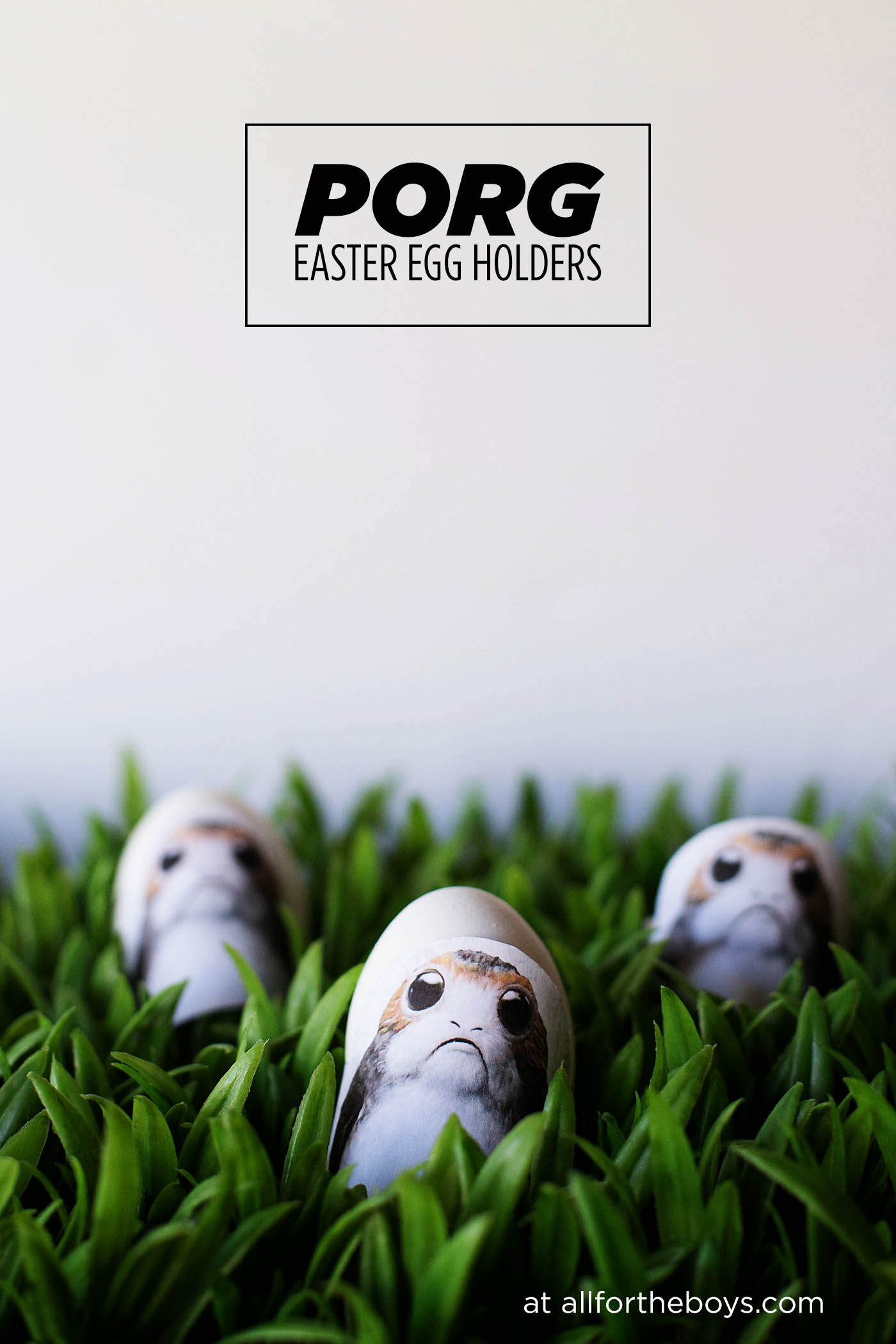 Super cute and easy Porg Easter Egg holders. The easiest and cutest way to decorate eggs for Star Wars lovers!