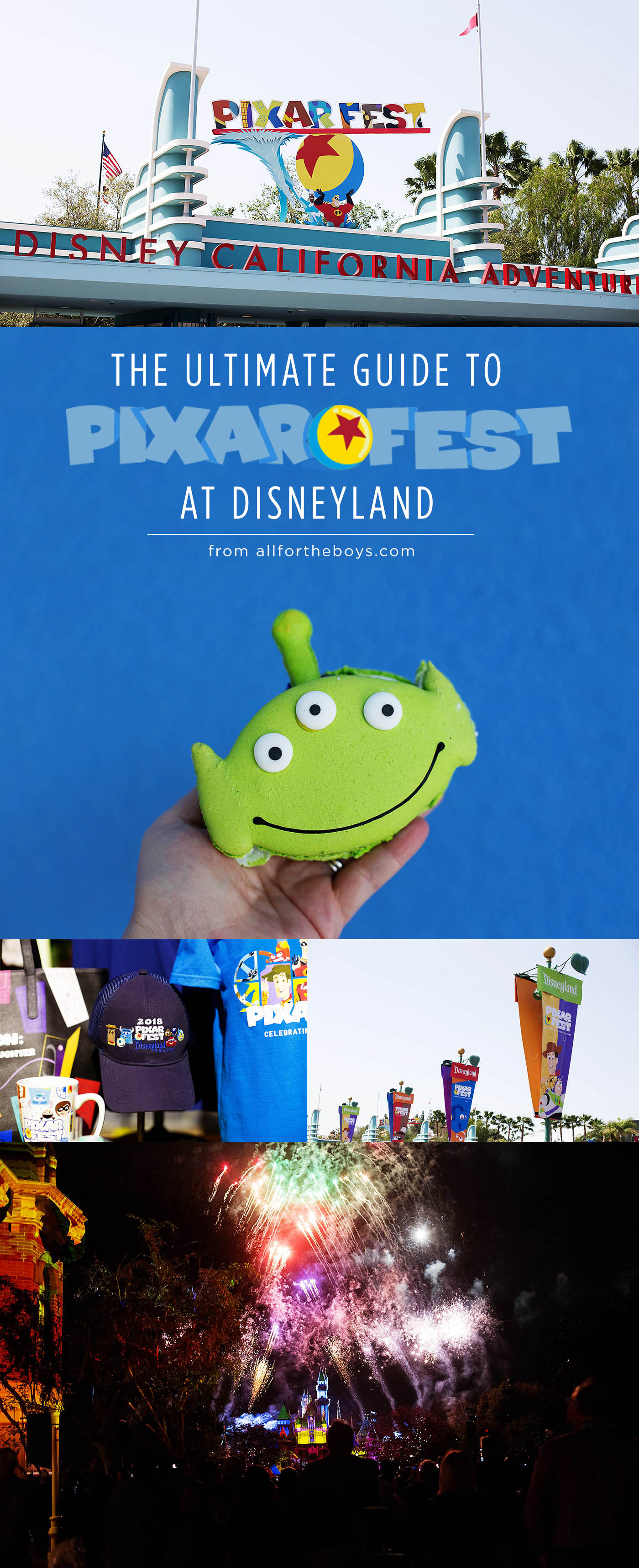The Ultimate Guide to Pixar Fest with info on food, merchandise, entertainment and even a discount code!