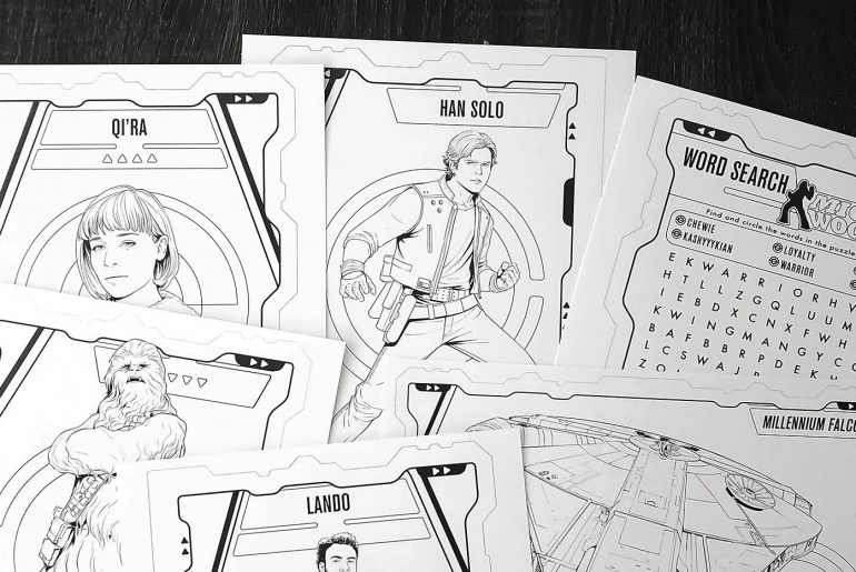 Solo: A Star Wars Story printable activities and coloring pages