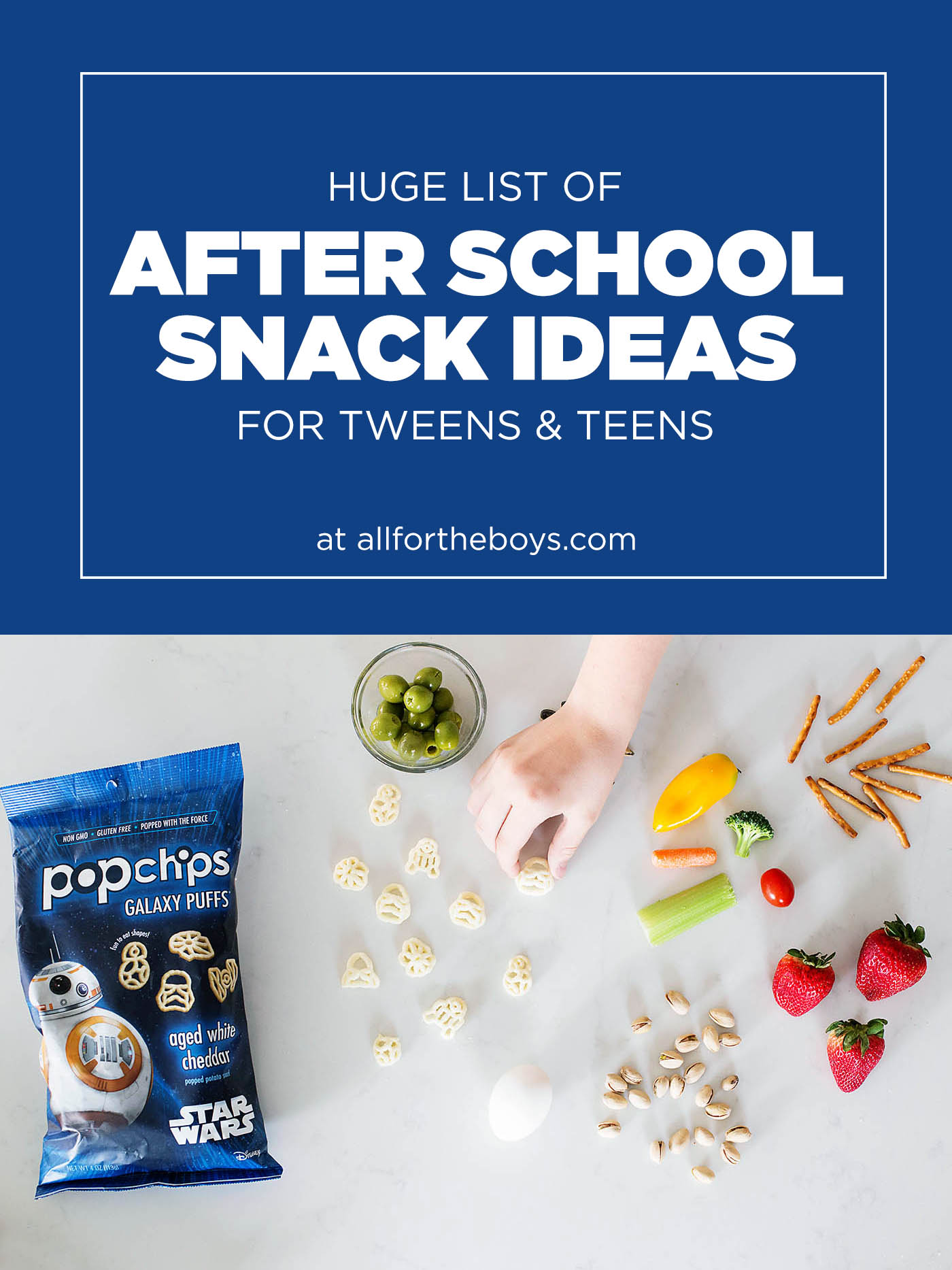 Huge list of after school snack ideas for teens (or tweens)