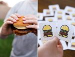 National Hamburger Day + Printable Matching Hamburger Game