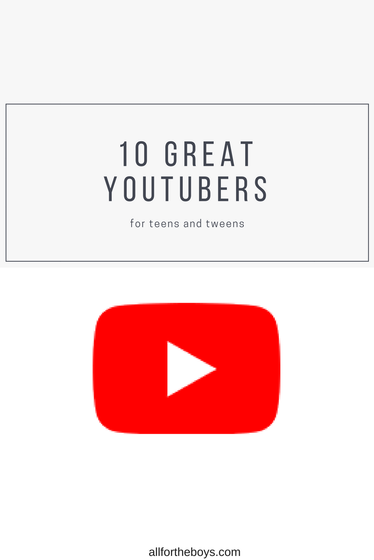 10 great YouTube Channels for teens tweens and parents too! Love this list!