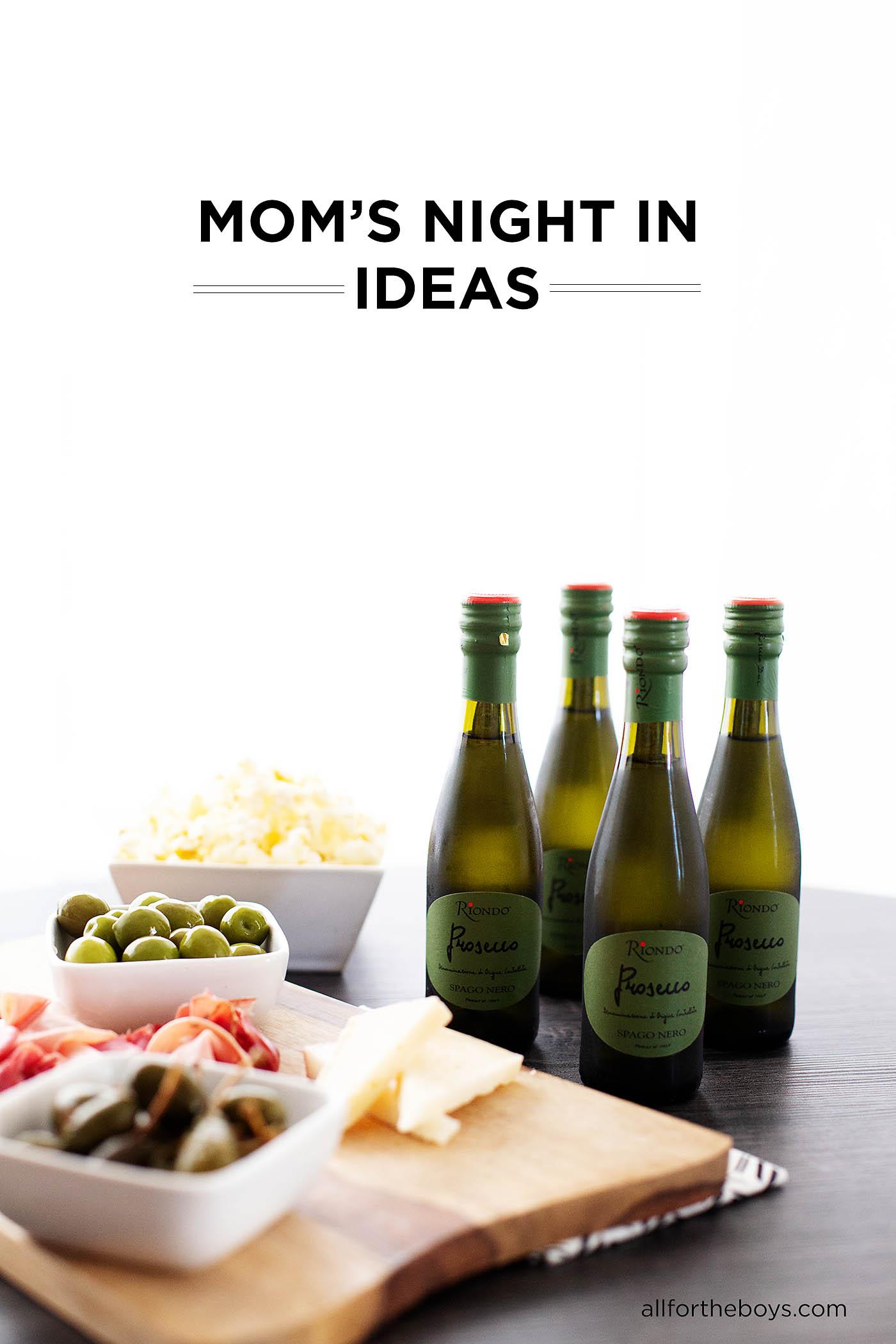 Unique and easy Moms' Night In ideas + a Lime Prosecco Spritzer recipe